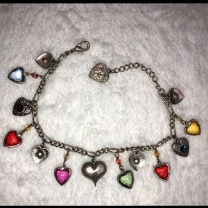 💎BOGO FREE! Multi colored rainbow silver bracelet